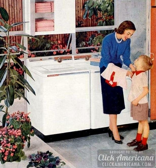Going to do the laundry? How-to from 1955