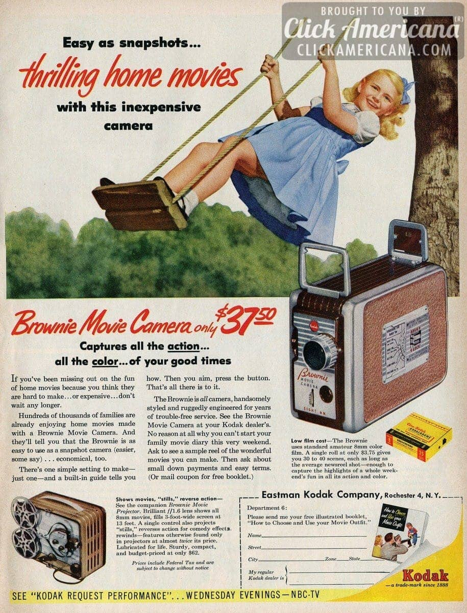 Thrilling home movies with the Brownie Movie Camera (1955)