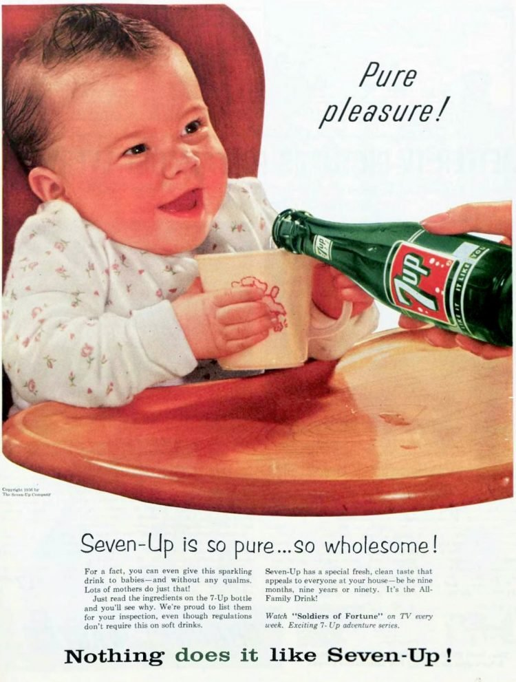 1956 7-up soda for a baby