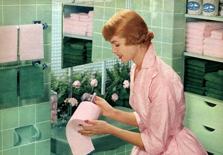1956 - Changing the toilet paper roll