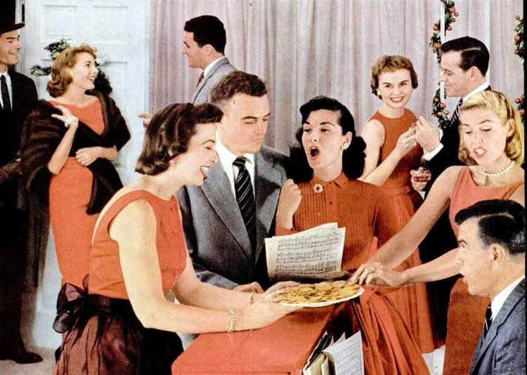 1956 Christmas party