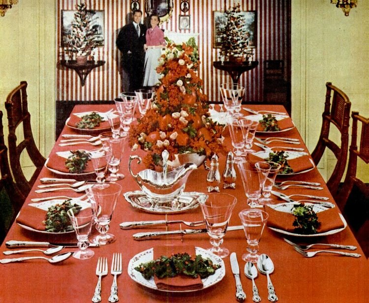 1956 Christmas table