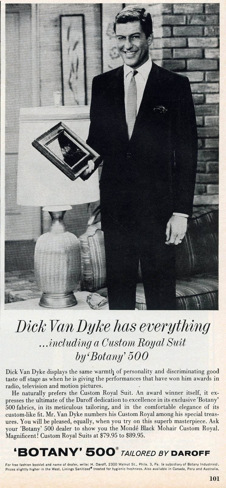 1956 - Dick Van Dyke for Botany 500 suits