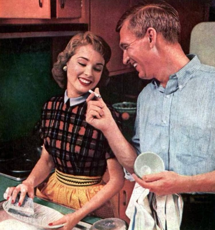 1956 - Have a cigarette while you wash the dishes