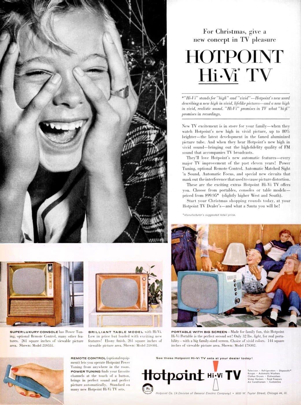 1956 Hotpoint Hi-Vi TV
