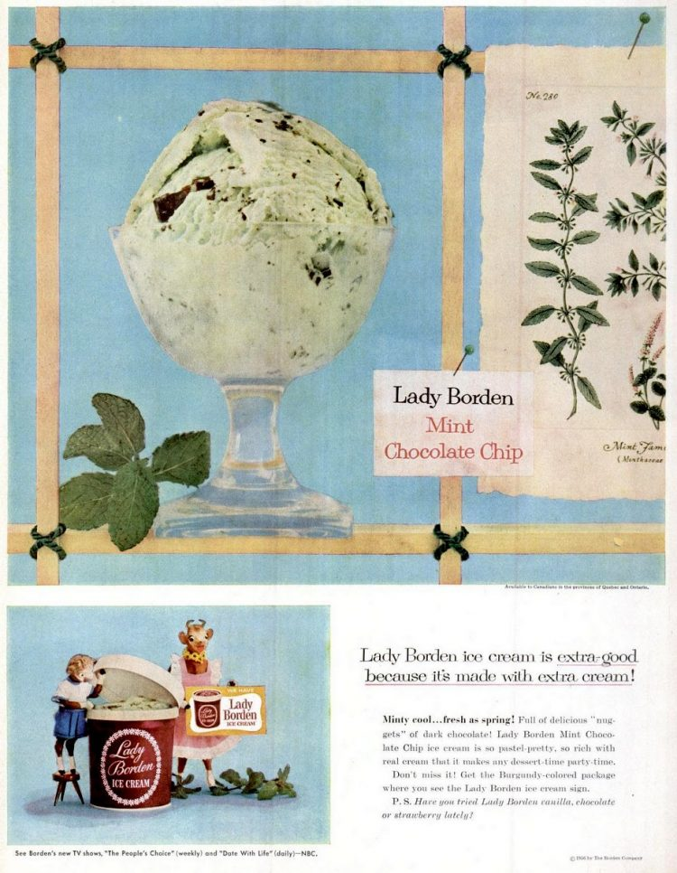 1956 Mint chip ice cream