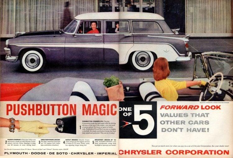 Pushbutton magic on the DeSoto Firedome station wagon (1956)