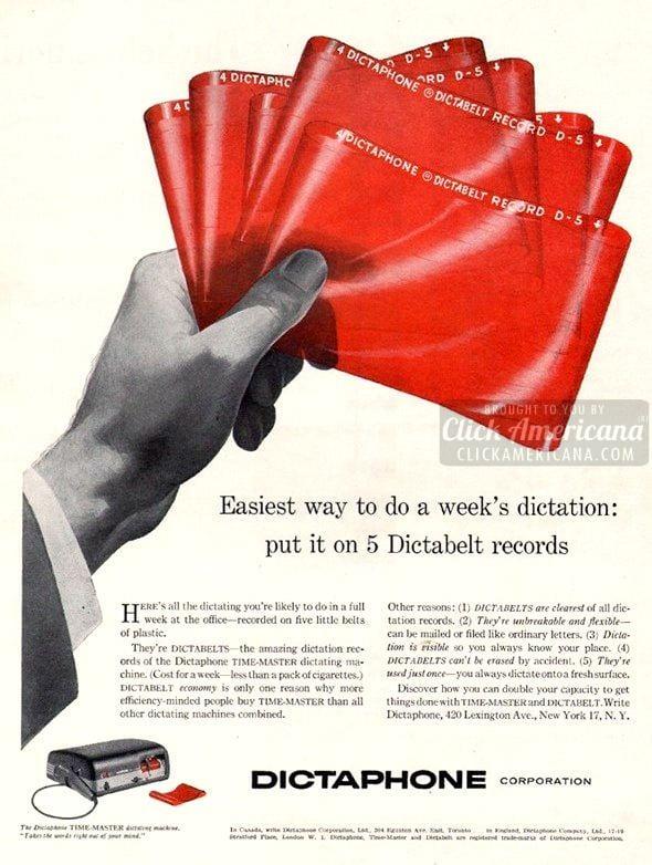 1956-dictaphone belts