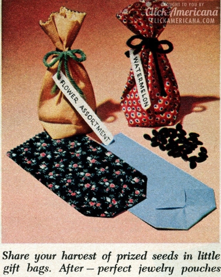Make your own gift wrapping bags (1956)