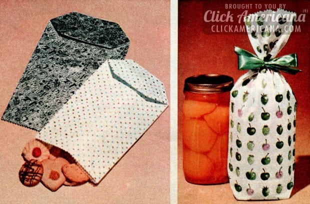 Make Your Own Gift Wrapping Bags 1956 Click Americana