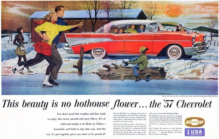 1957 Chevrolet - no hothouse flower - classic cars