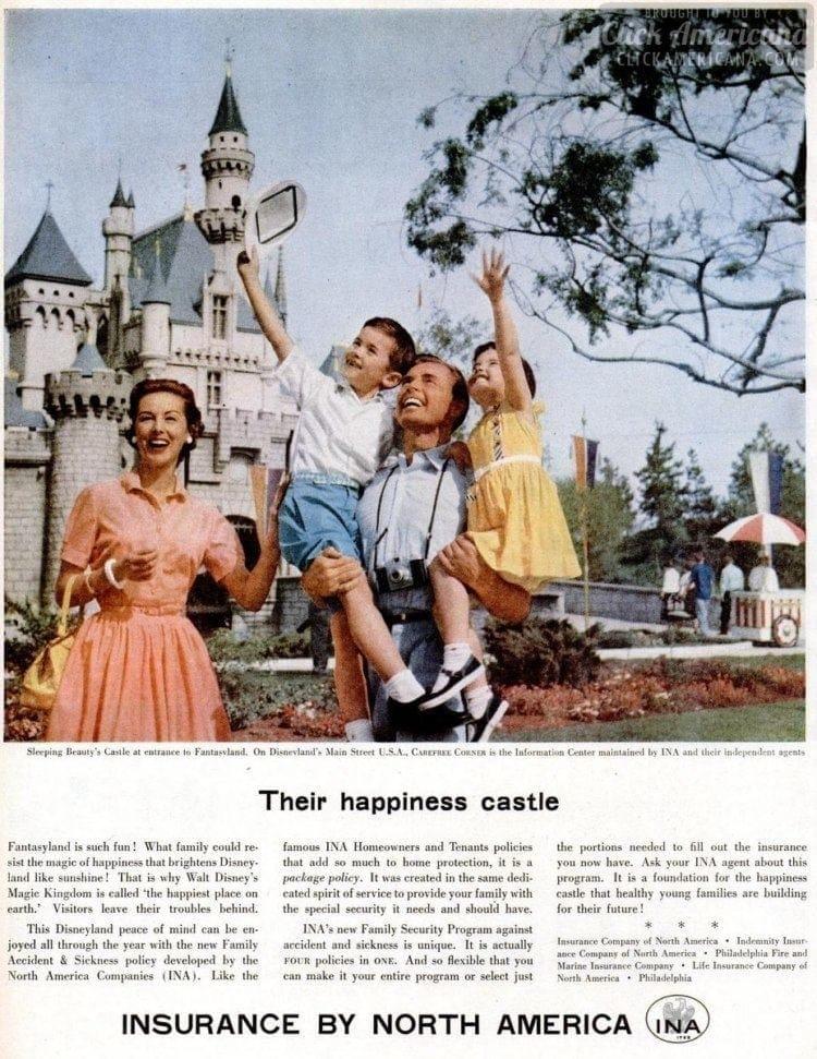 1957 Disneyland castle