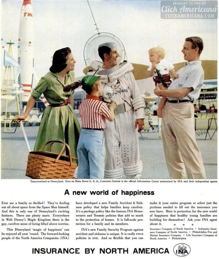 1957 Disneyland family Tomorrowland