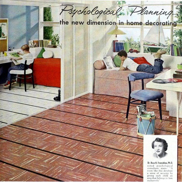 1957 Psychological planning for home decorating - Boys room