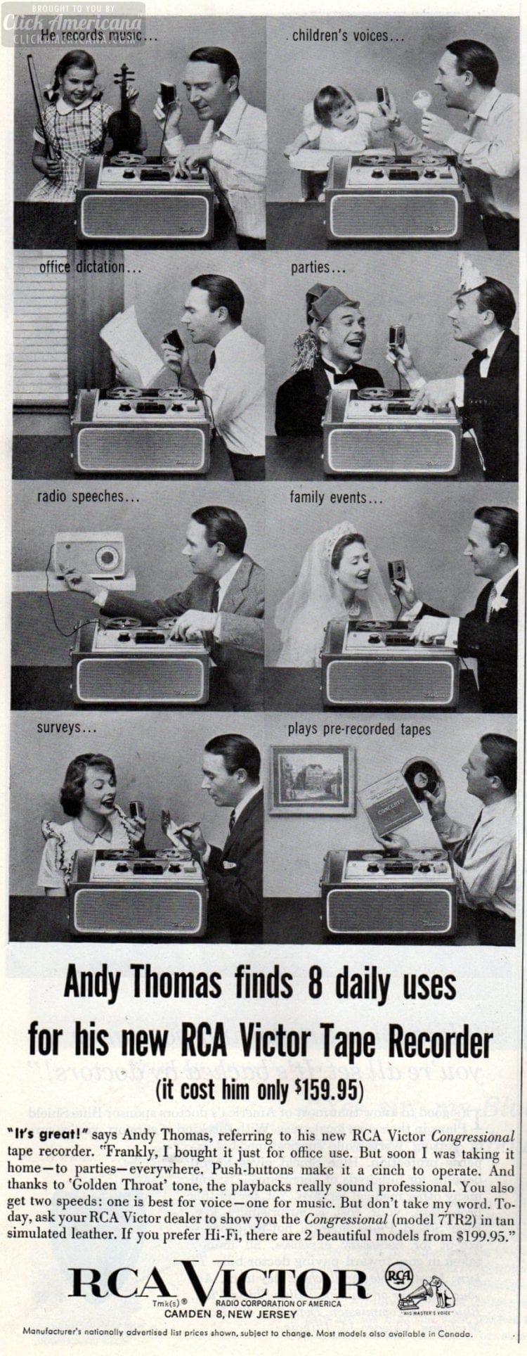 1957 RCA Victor tape recorder