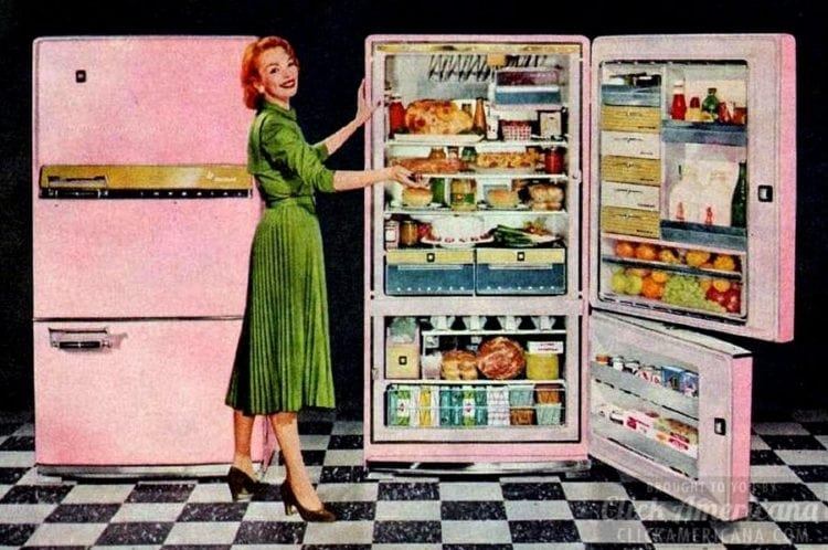 1957's wonderful pink refrigerator