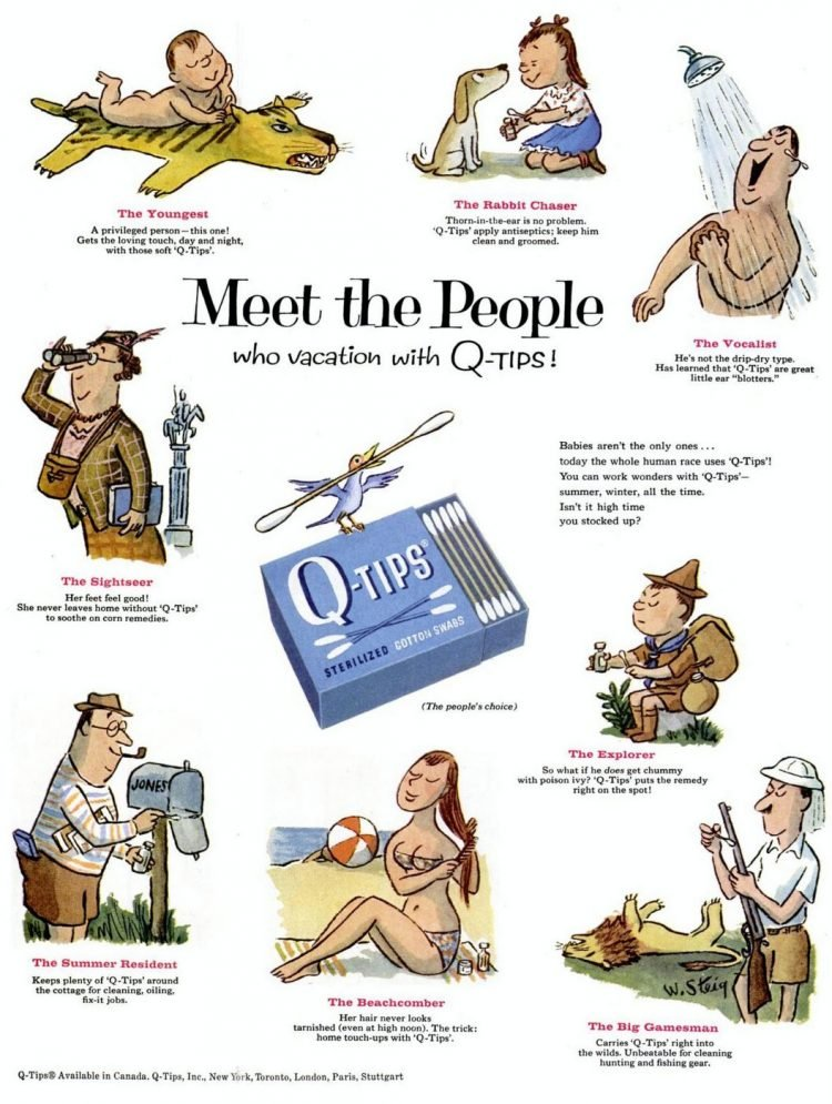 1957 Uses for Q Tips