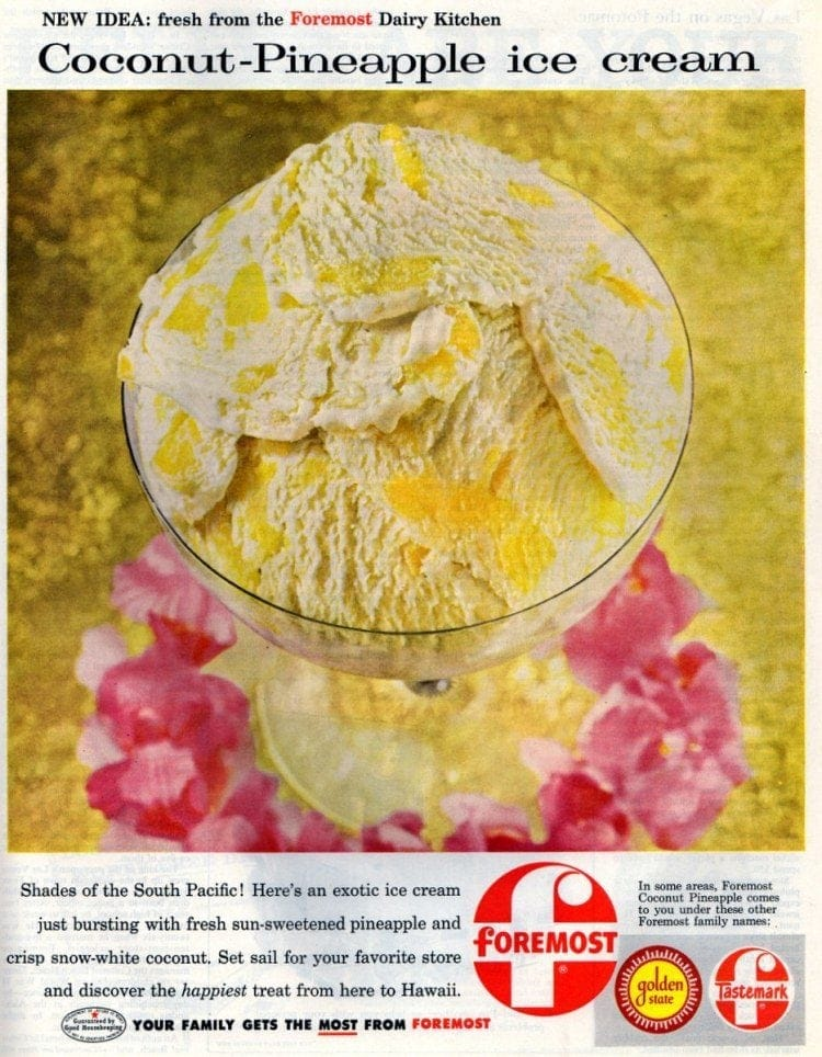 Coconut-Pineapple ice cream (Foremost - 1957)