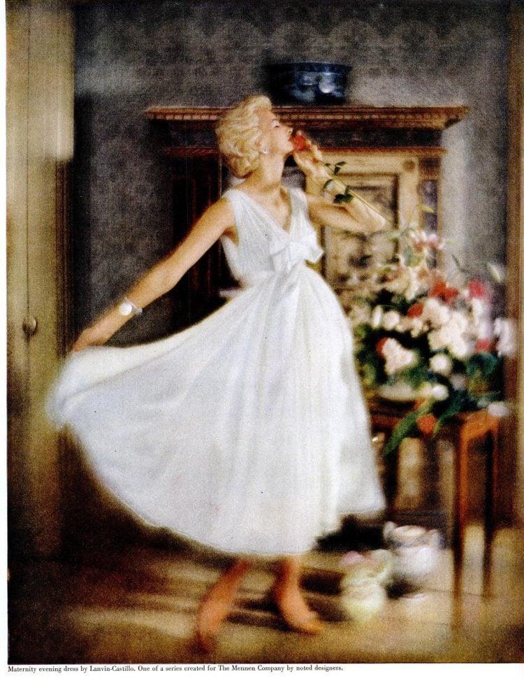 1957 fashion - Vintage pregnancy maternity