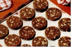 1958 Brownie icebox cookies - Vintage Betty Crocker cookie mix