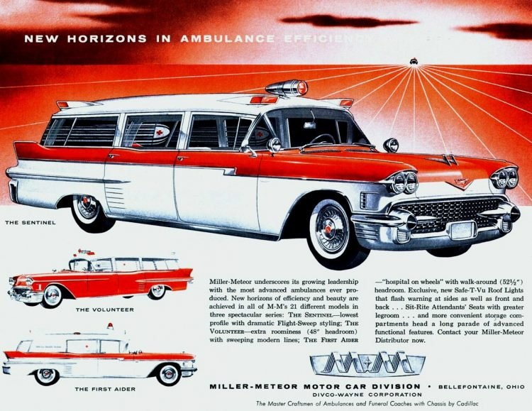 1958 Cadillac Ambulances