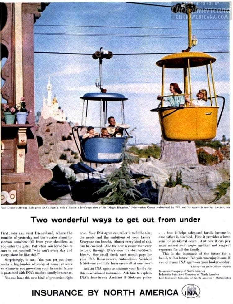 1958 Disney Skyway ride