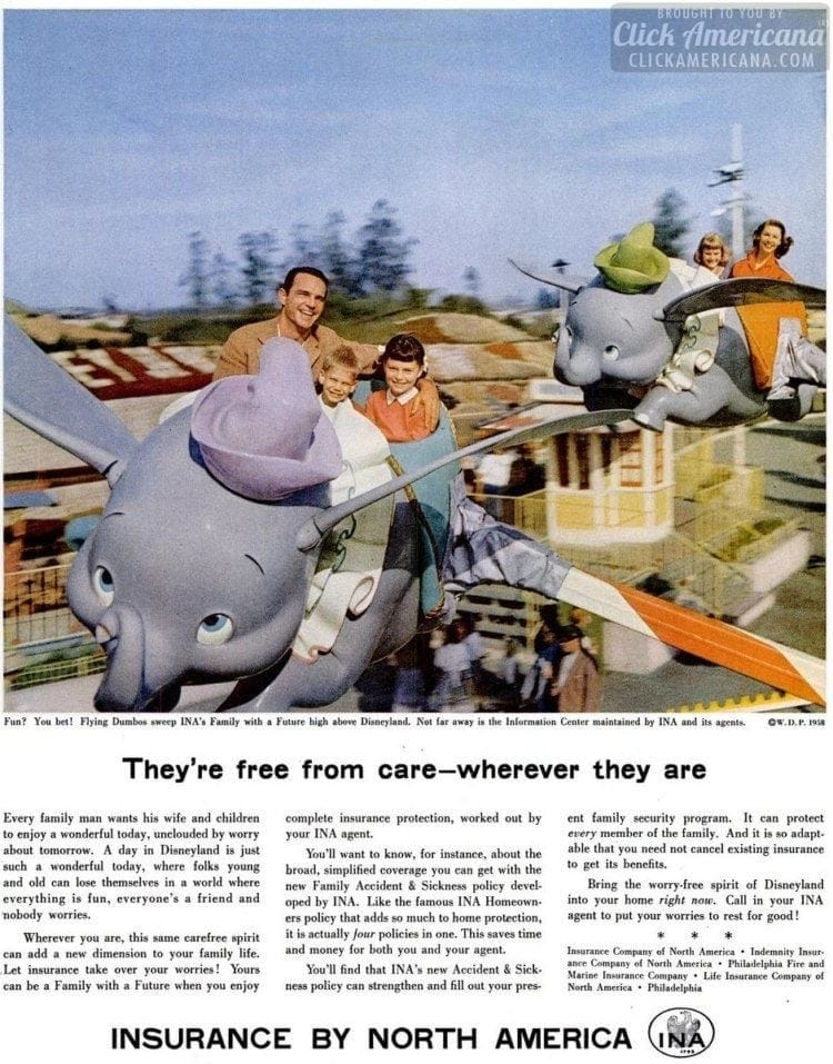 1958 Disneyland Dumbo ride