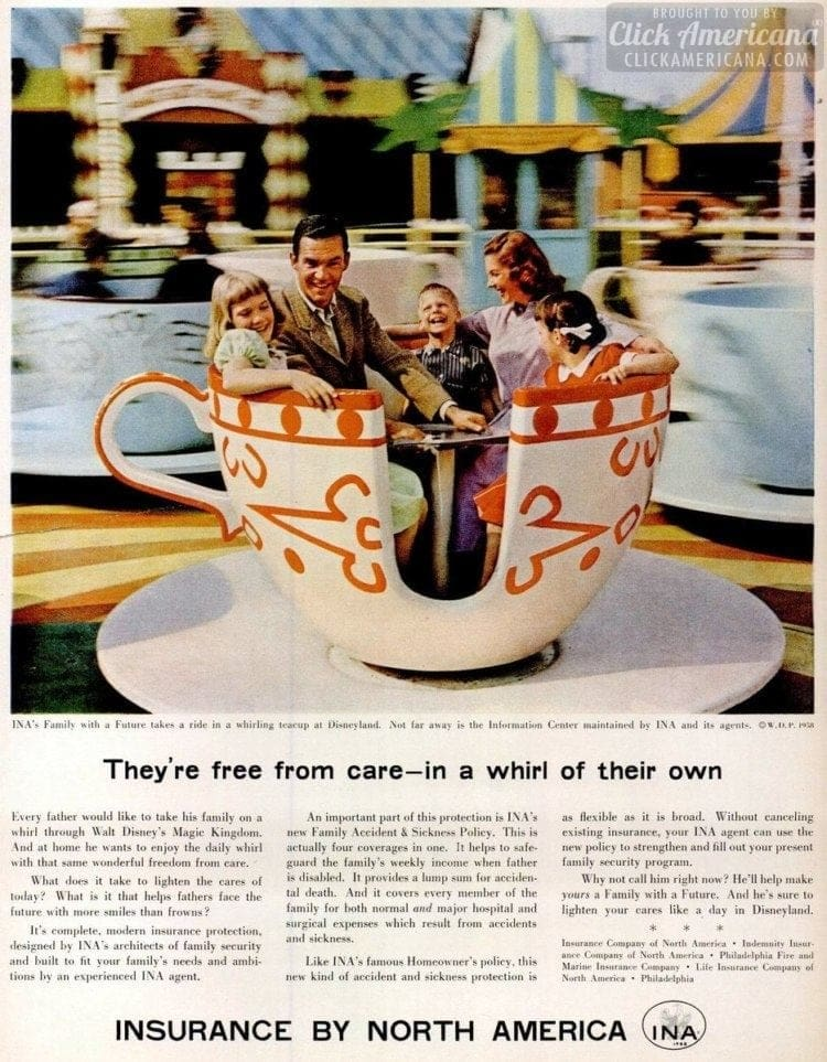 1958 Disneyland teacup ride