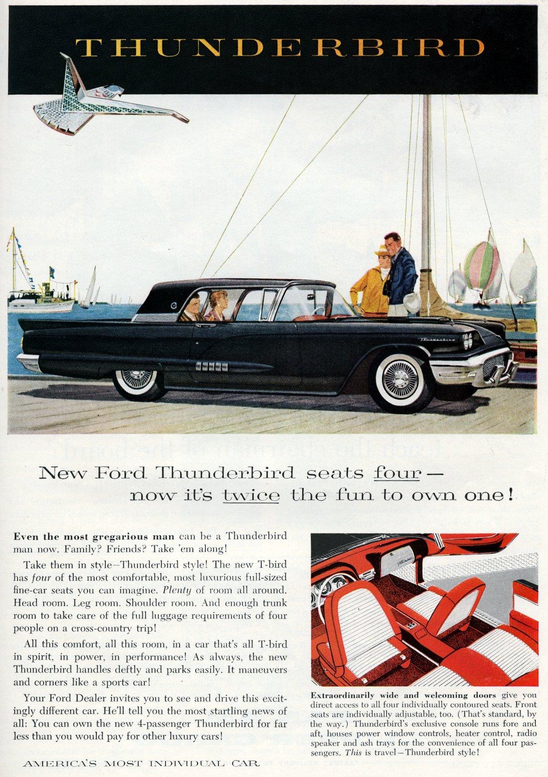 1958 Ford Thunderbird cars