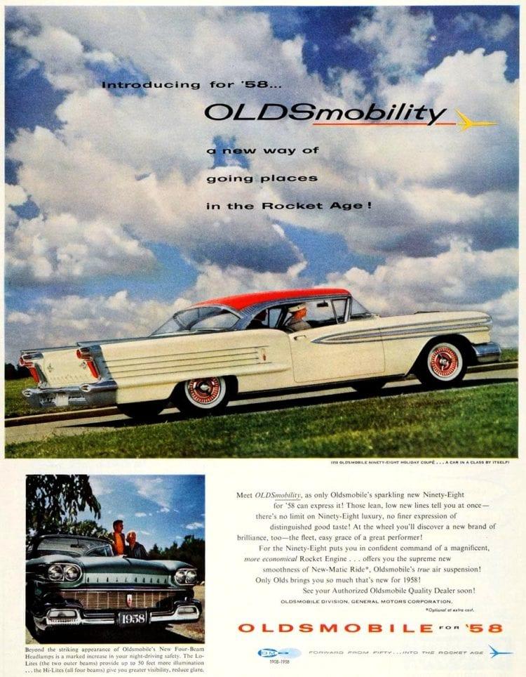 1958 Oldsmobile Ninety-Eight Holiday Coupe classic car