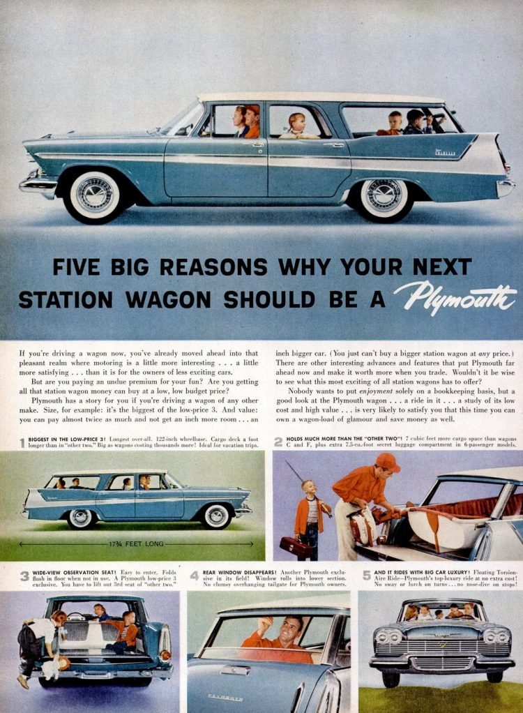 1958 Plymouth station wagons