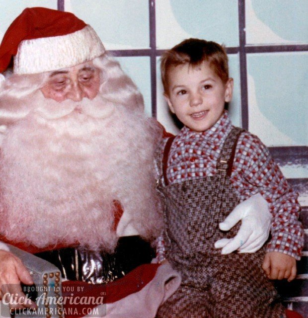 1958-With Santa at Macys at Herald Square NYC