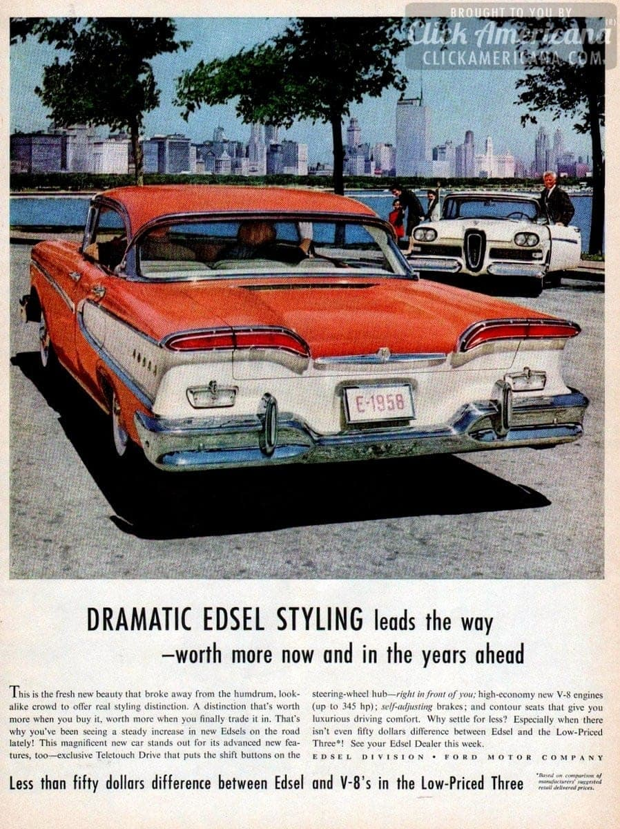 1958 Edsel: Steals the show wherever you go