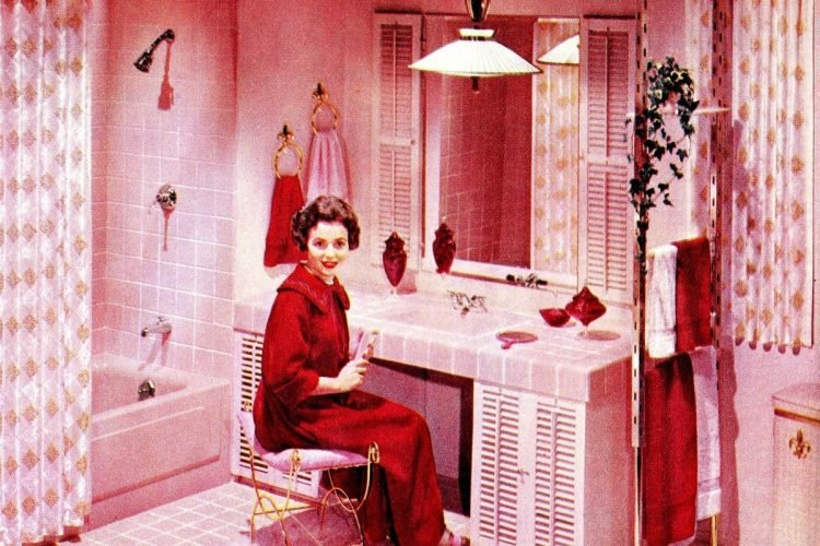 23 Vintage Pink Bathrooms See Some Wild Bubblegum Era Midcentury Home Decor Of The 1950s 1960s Click Americana