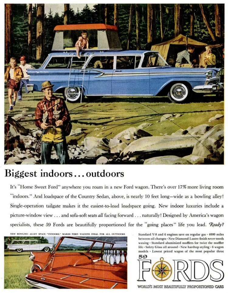 1959 Ford cars station wagons