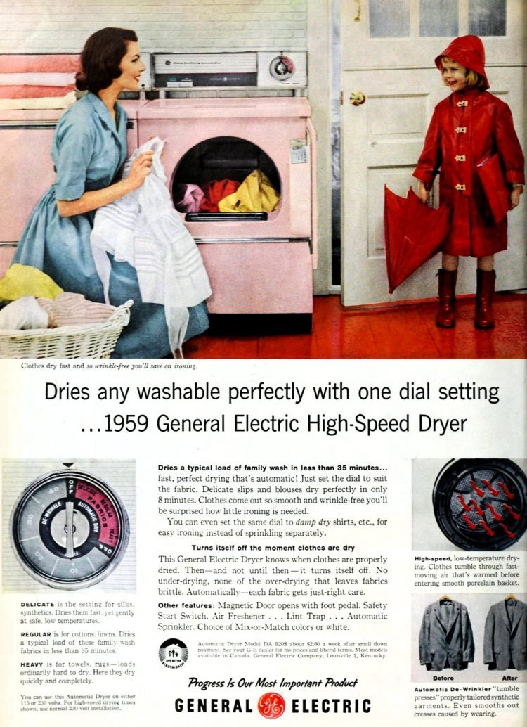 1959 General Electric High-Speed Dryer