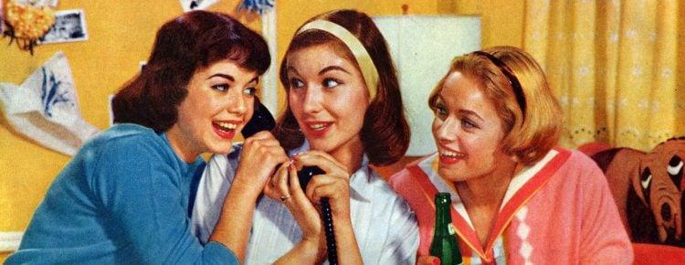 1959 - Girls on phone