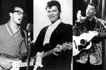 1959-Rock 'n' roll star Buddy Holly & three others killed in air crash