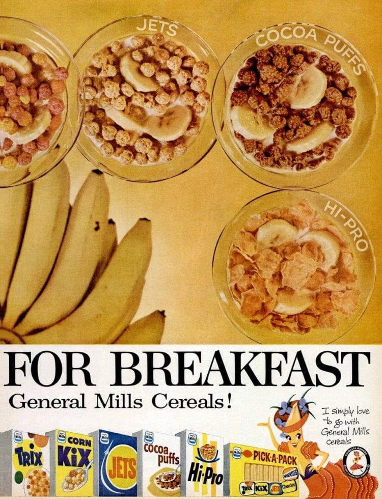 1959 Vintage cereal in bowls