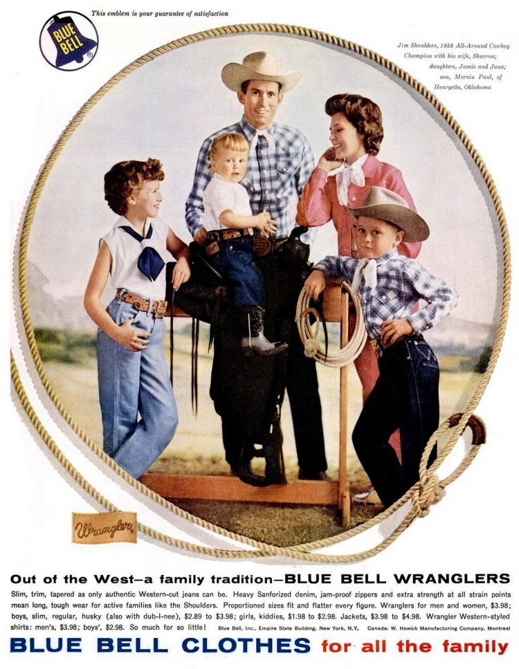 1959 Wrangler clothes jeans cowboys fashion