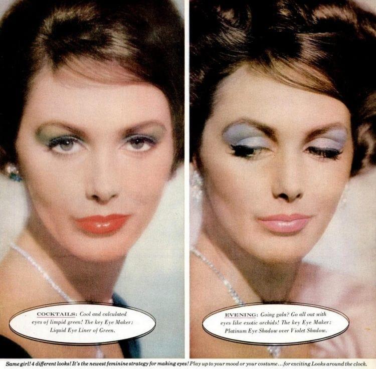 '50s eye makeup - eyeshadow from 1959