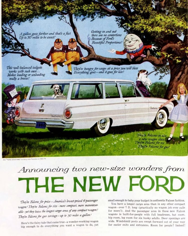 1960 Ford Falcon station wagons (2)