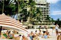 1960 Hawaiian beach scene
