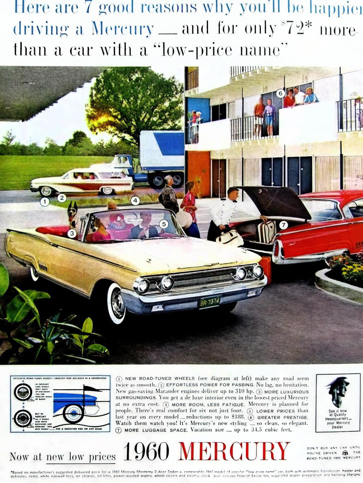 1960 Mercury cars - Motel courtyard