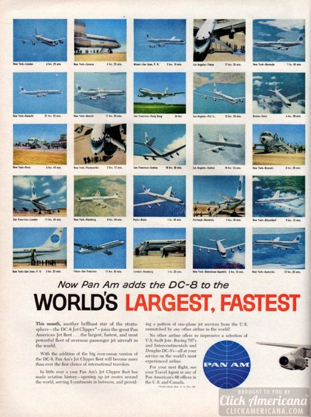 1960 - Now Pan Am adds the DC-8 (1)