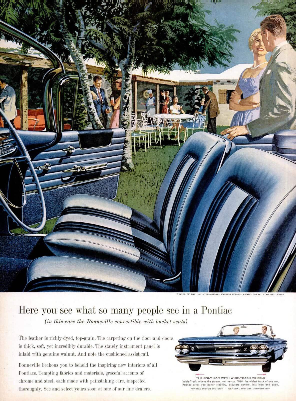 1960 Pontiac car interiors