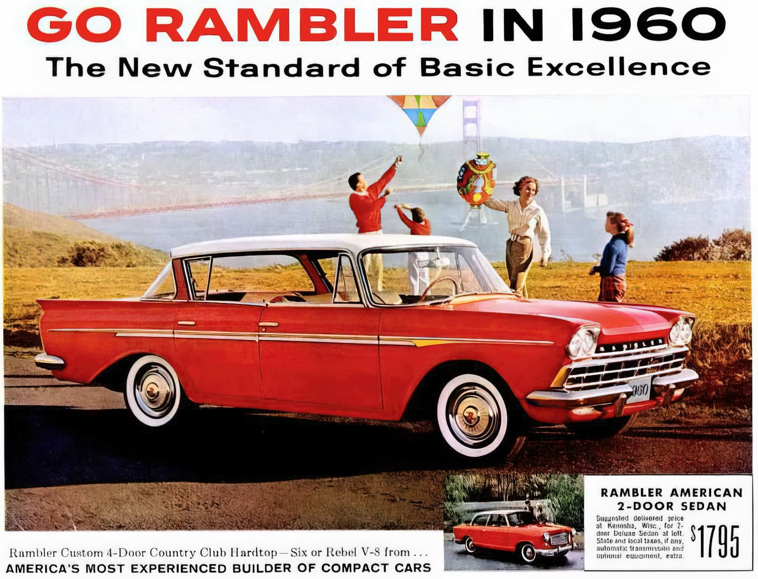 1960 Rambler cars - Golden Gate Bridge