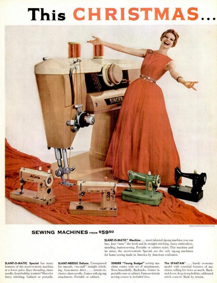 1960 Singer sewing machines for Christmas
