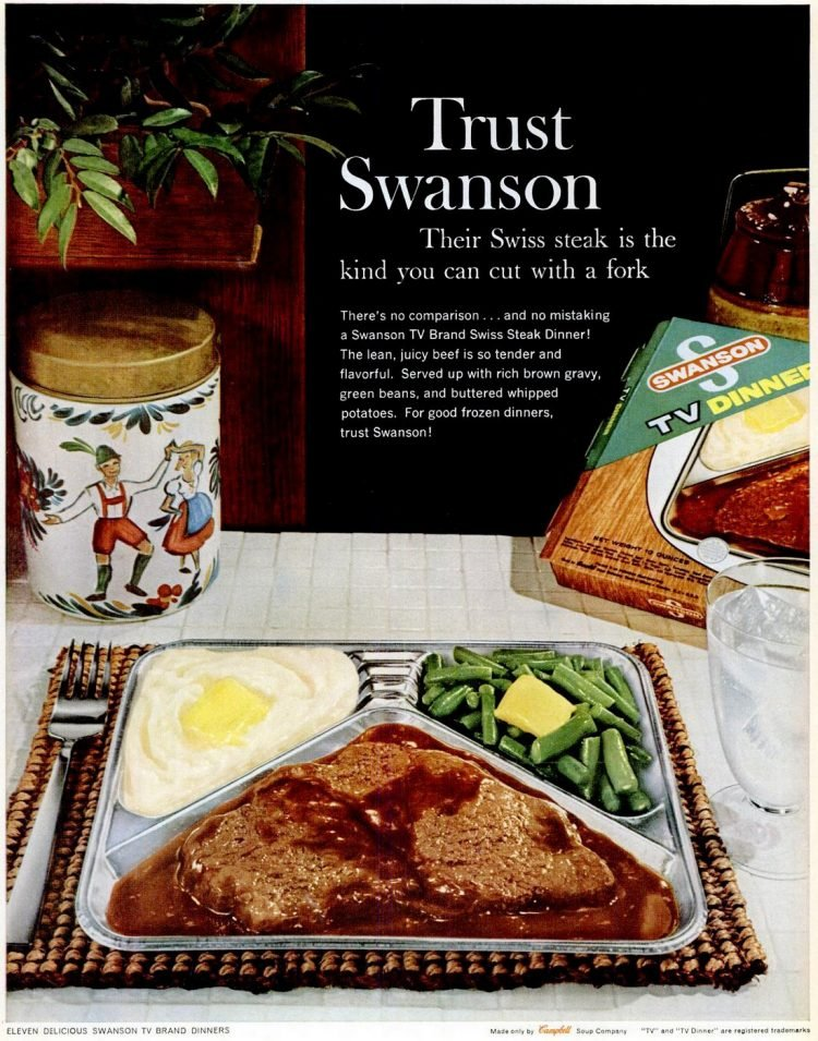 1960 Swanson Swiss steak - Frozen TV dinner