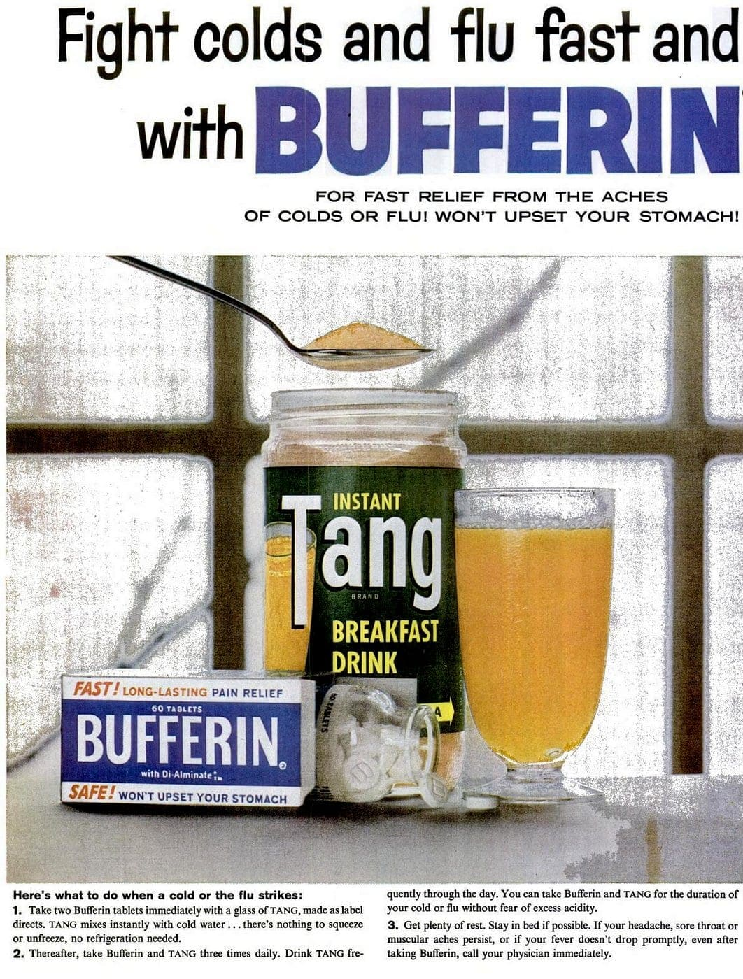 1960 Tang and Bufferin